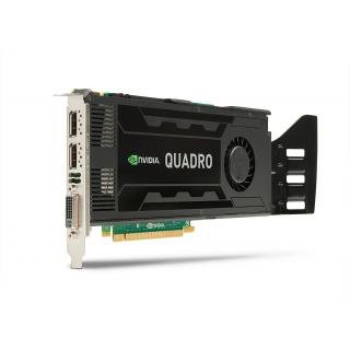PLACA VIDEO NVIDIA QUADRO K4000, 3GB GDDR5, 192BIT, 2 X DISPLAY PORT, 1 X DVI