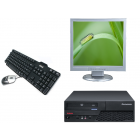 Sistem Desktop PC, cu procesor Intel Core 2 Duo E7500, 4 GB RAM, 160 HDD + Monitor  19 inch + Tastatura + Mouse optic