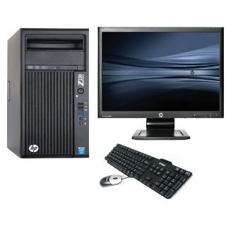 Sistem Desktop PC, procesor Intel Xeon E3-1345V 3400 Mhz, 16 GB RAM,  SSD 120 GB, NVS 315 + Monitor 23 inch + Tastatura + Mouse