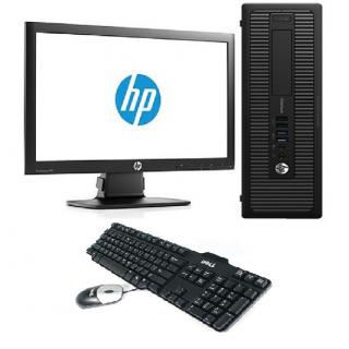 Sistem Desktop PC, procesor Intel Core i7 4770 3200 Mhz, 16 GB RAM, SSD 256 GB + Monitor 23 inch + Tastatura + Mouse